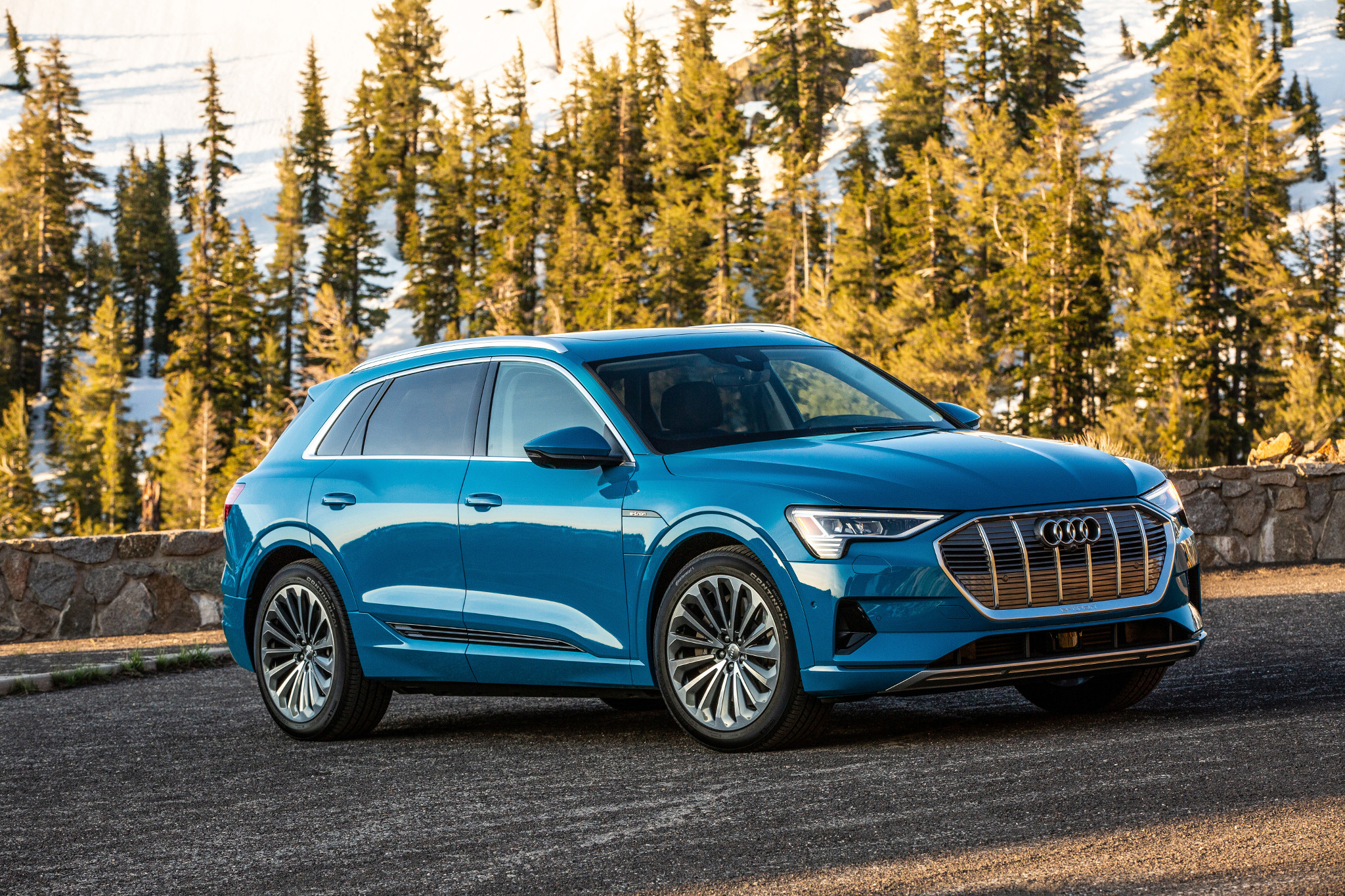 2019 Audi E Tron First Drive Electric Suv Is Golden Gloves To