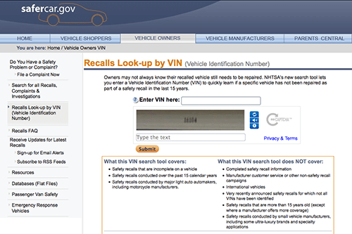 NHTSA Launches VIN-Searchable Recall Finder | News | Cars com
