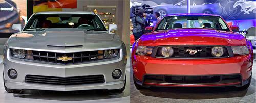 Camaro Vs Mustang >> Auto Show Faceoff 2010 Camaro Vs 2010 Mustang News