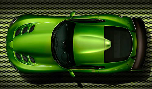 Stryker Green 2014 SRT Viper Is the Least Stealth Car Ever