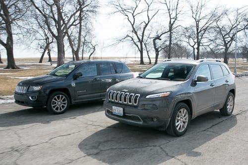 Jeep Compass Vs Jeep Cherokee >> 2014 Jeep Cherokee Versus 2014 Jeep Compass News Cars Com