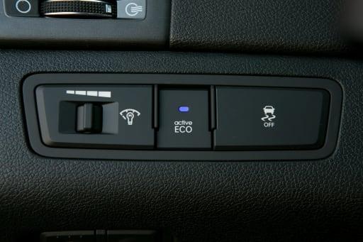 When should you use the Active Eco button on the 2012 Hyundai Sonata