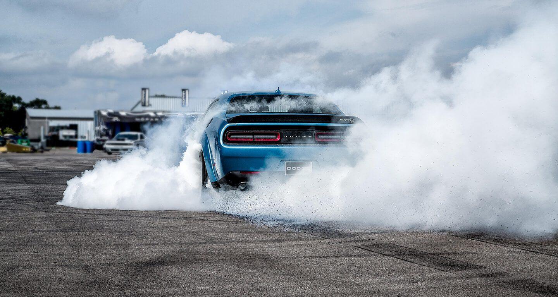 2020 Dodge Challenger SRT Hellcat generating tire smoke