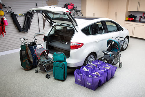 Ford C Max Cargo Space >> 2014 Ford C Max Energi Real World Cargo Space News Cars Com