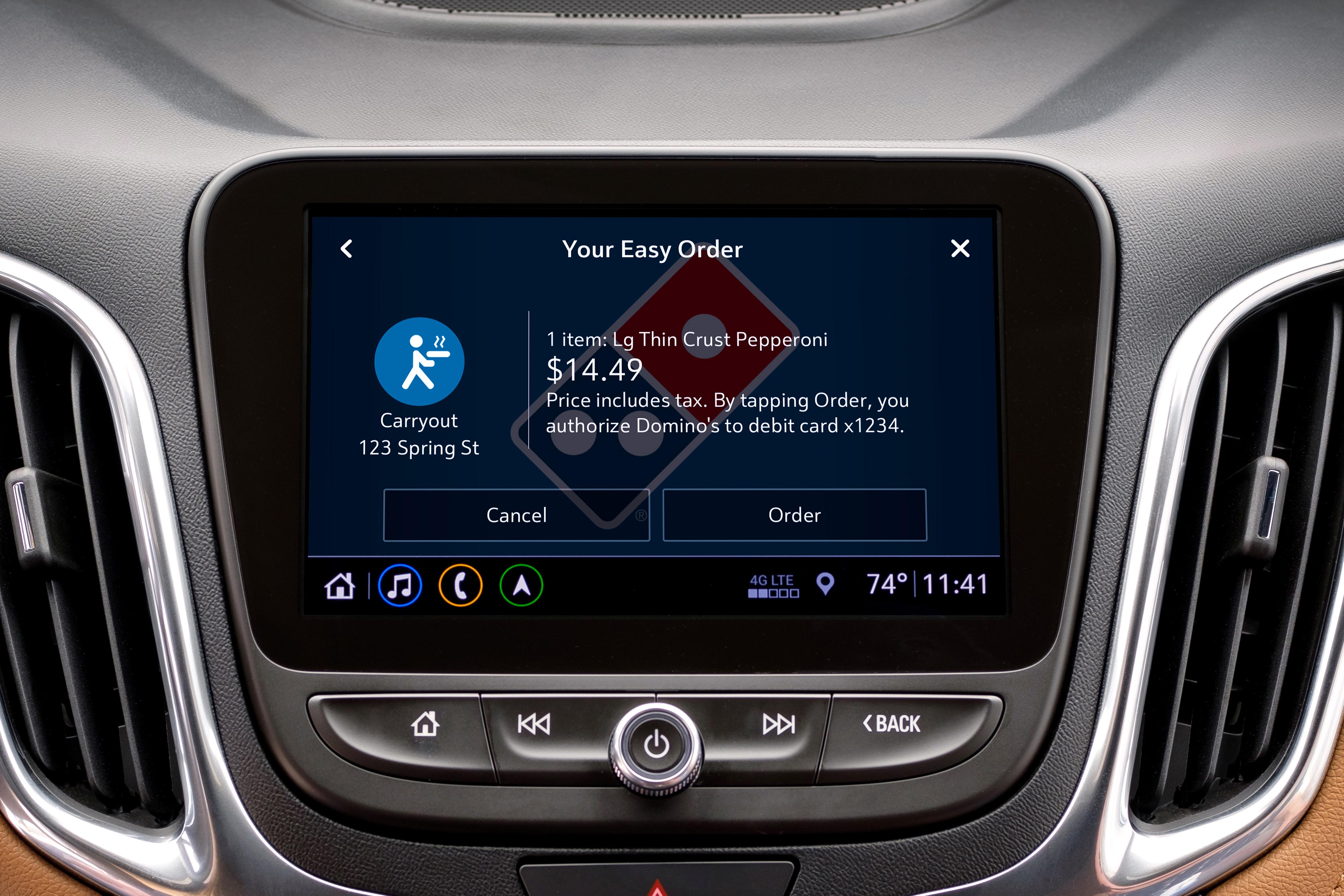 Chevrolet Marketplace Domino's Application