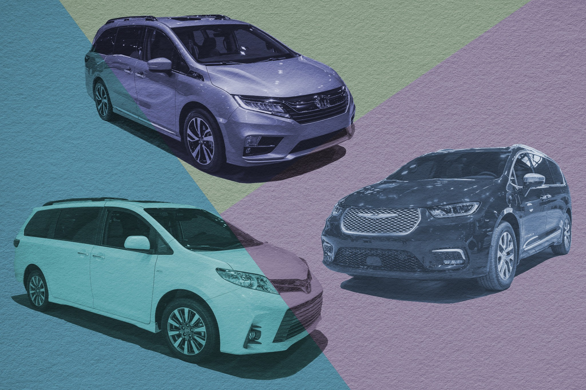 Auto Show Face-Off: 2021 Chrysler Pacifica Vs. 2020 Honda Odyssey Vs. 2020 Toyota Sienna