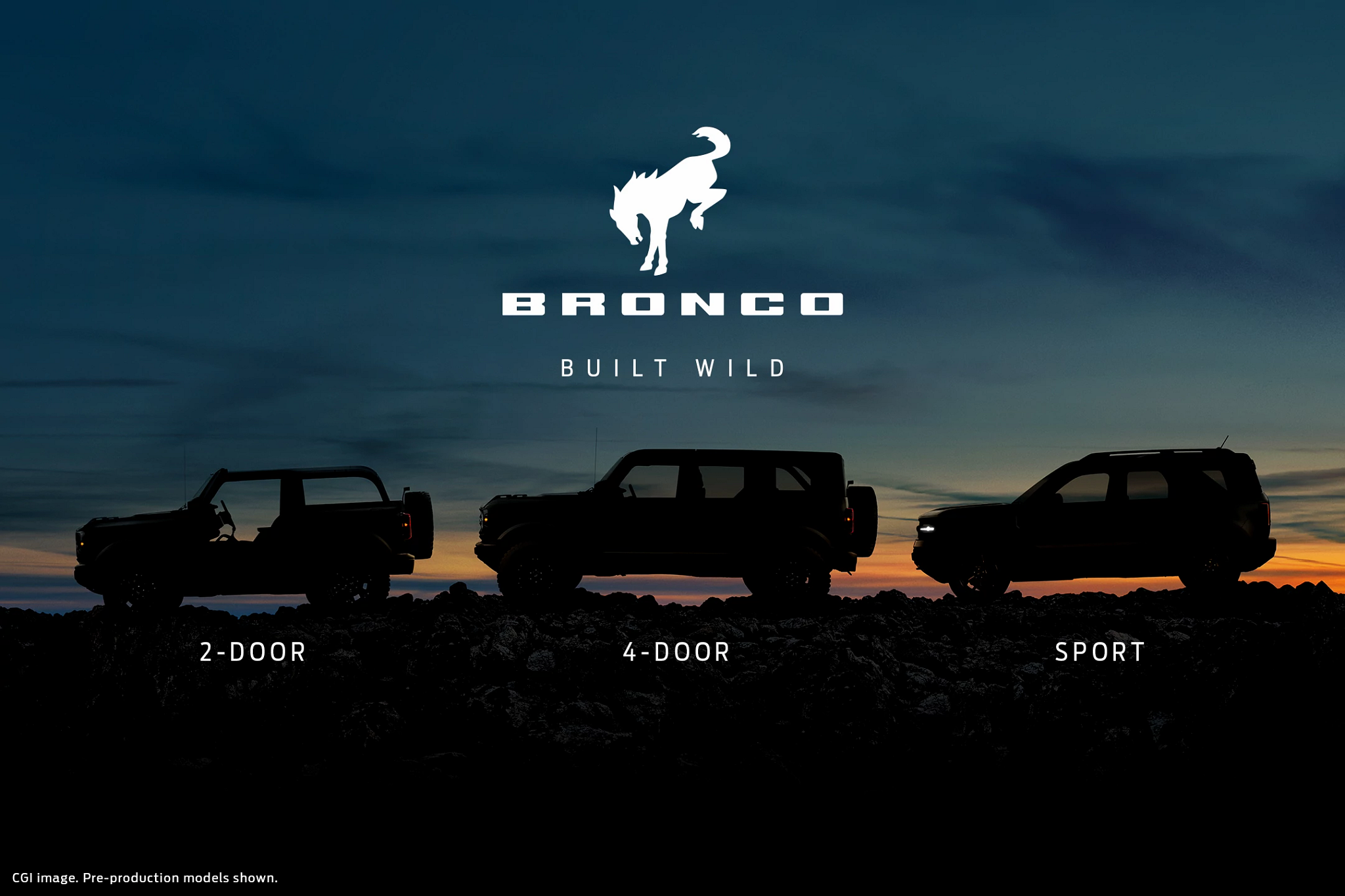 Here's When You Can See the New 2- and 4-Door Bronco and Bronco Sport Down to the Minute