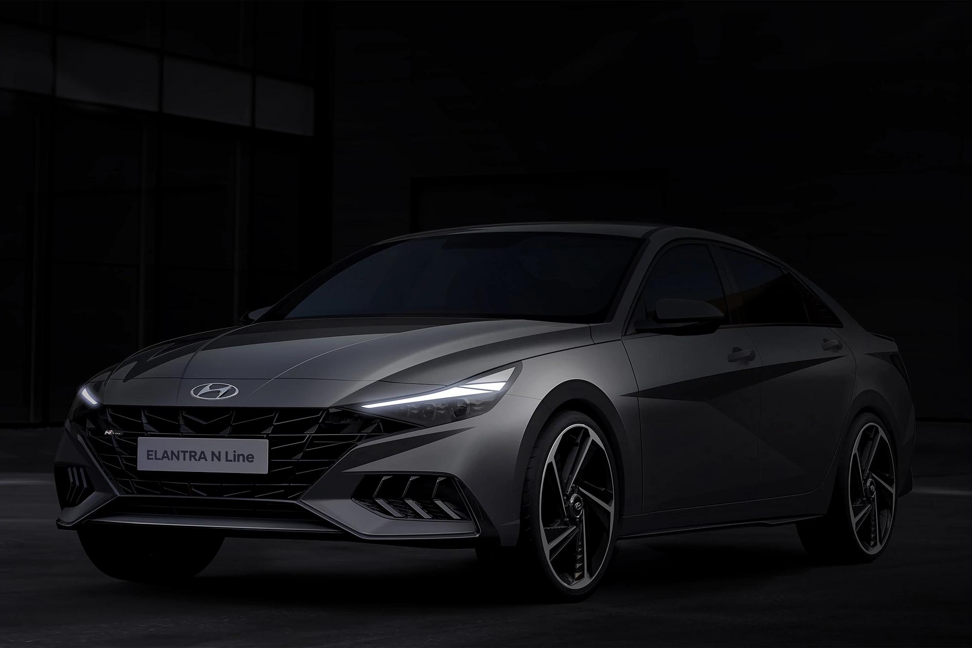 2021 Hyundai Elantra Gets Mean-Mugging N Line Treatment