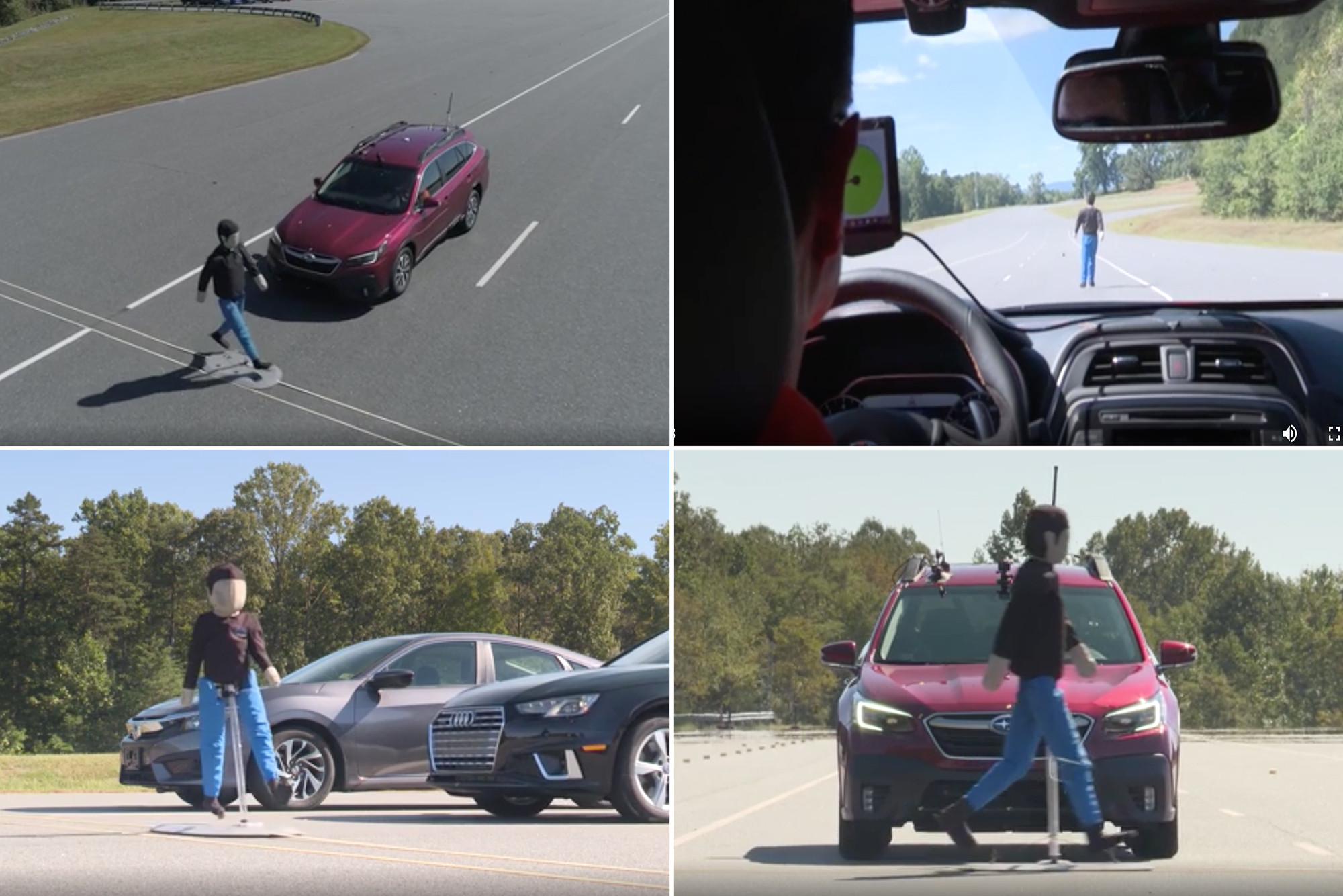 IIHS Testing Finds Pedestrian Detection Systems Vary Widely in Crash Protection