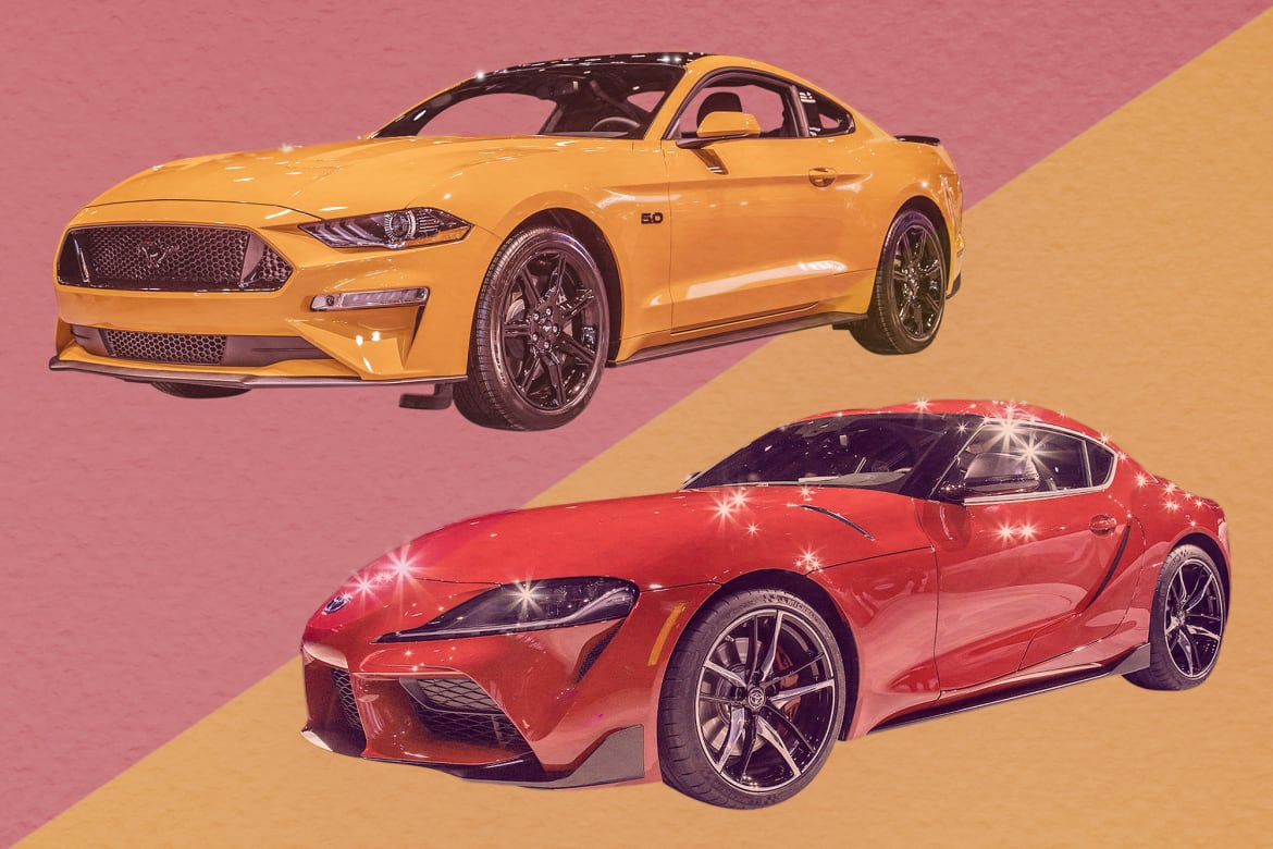 Auto Show Face-Off: 2020 Toyota Supra Vs  2019 Ford Mustang