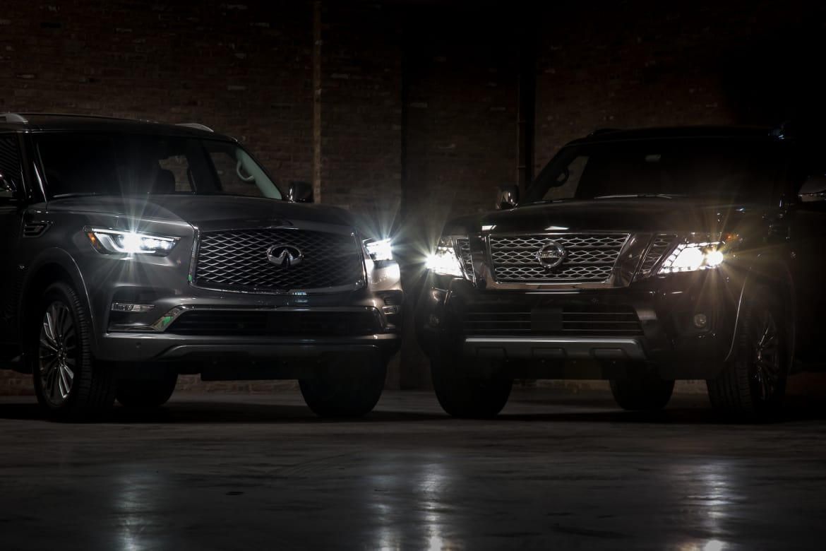 2018 Infiniti Qx80 Vs 2018 Nissan Armada Is The Luxury Badge Worth