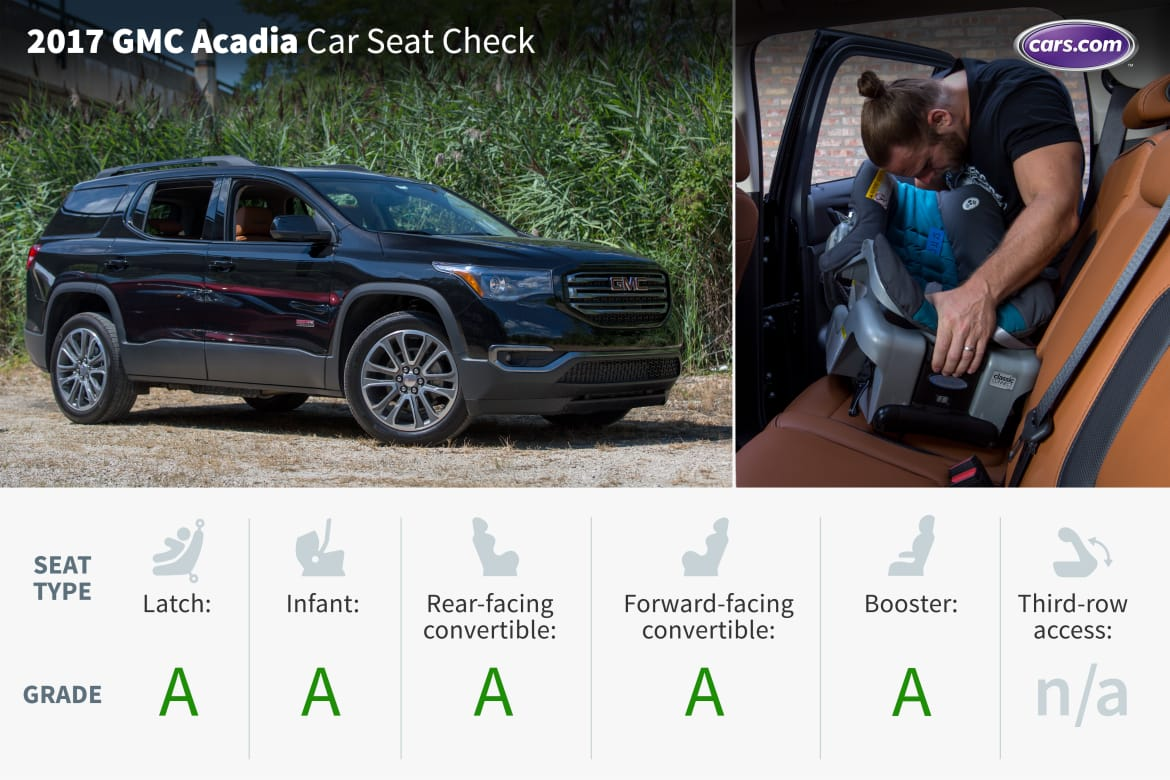 Stupendous 2017 Gmc Acadia Two Rows Car Seat Check News Cars Com Short Links Chair Design For Home Short Linksinfo