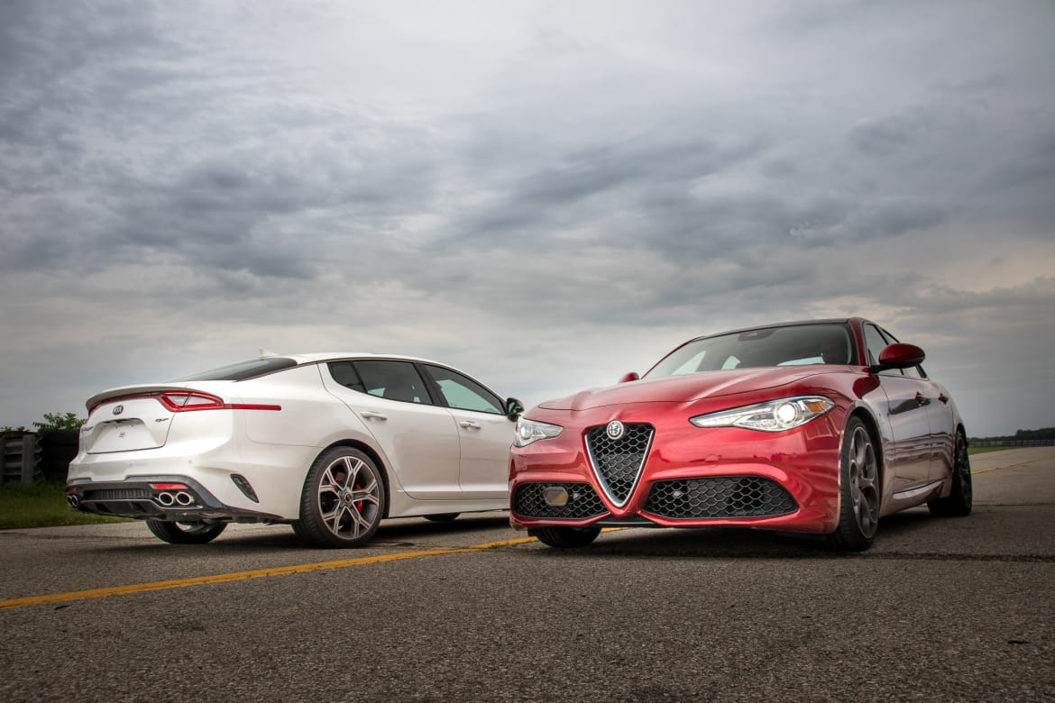 Kia Stinger GT Vs  Alfa Romeo Giulia Ti: Who Does Luxury and