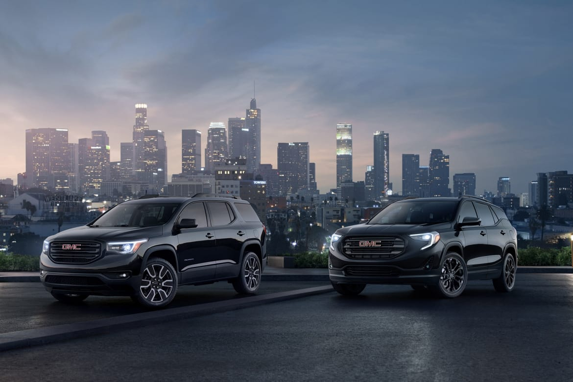 2019 Gmc Acadia Terrain Editions Reaffirm Black Is The New Black