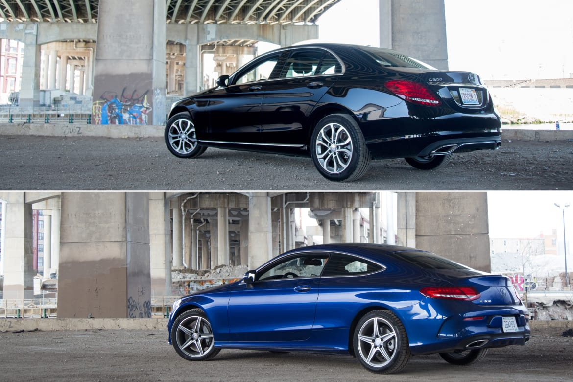 Sedan Vs Coupe >> 2017 Mercedes Benz C Class Coupe Vs Sedan Photo Gallery