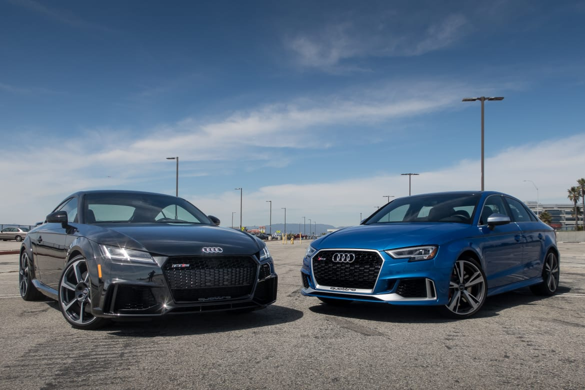 2017 Audi Rs 3 Vs 2018 Audi Tt Rs Performance At A Price