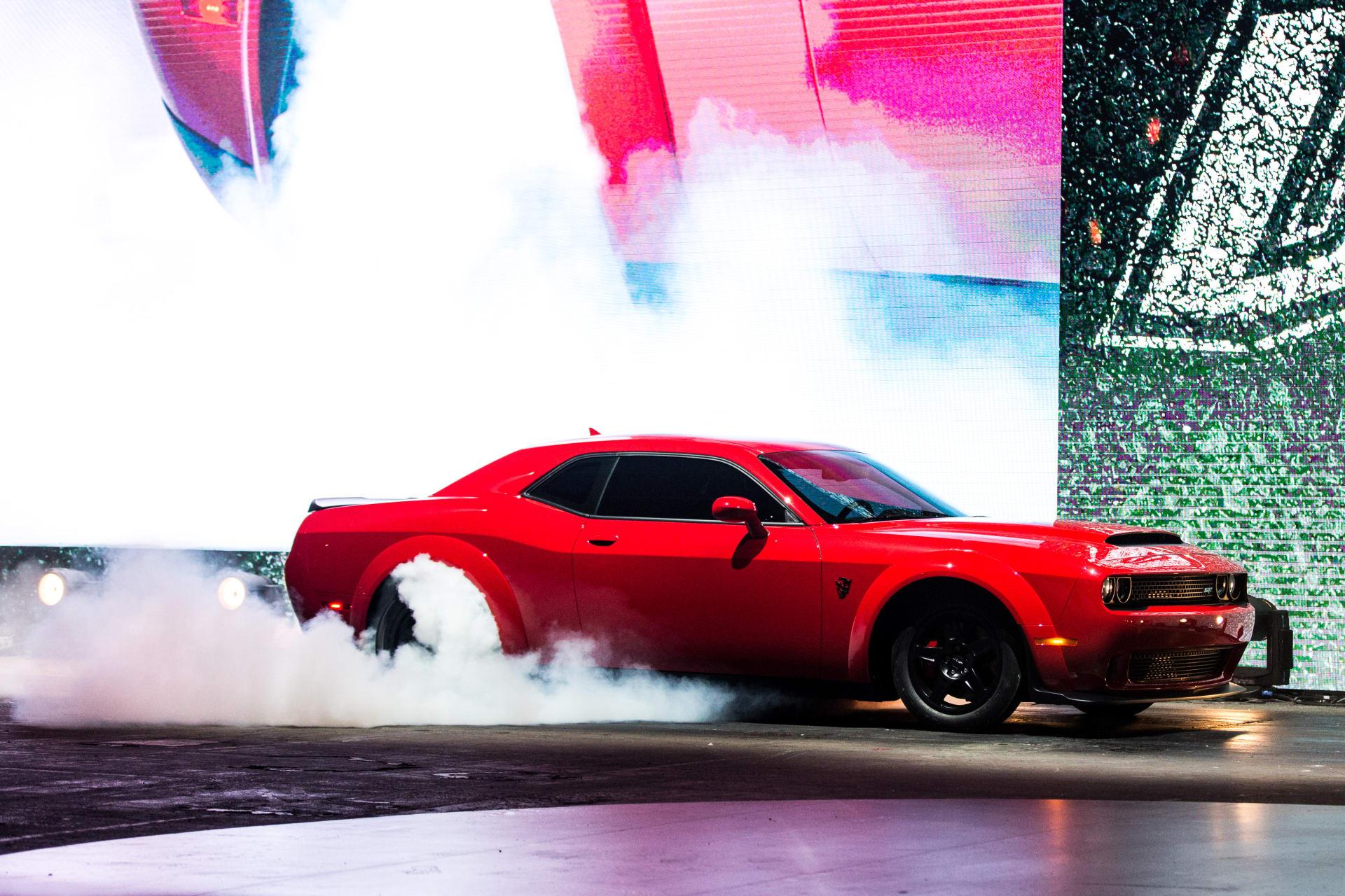 dodge hellcat demon burnout 2018 Dodge Challenger SRT Demon Review: First Impressions