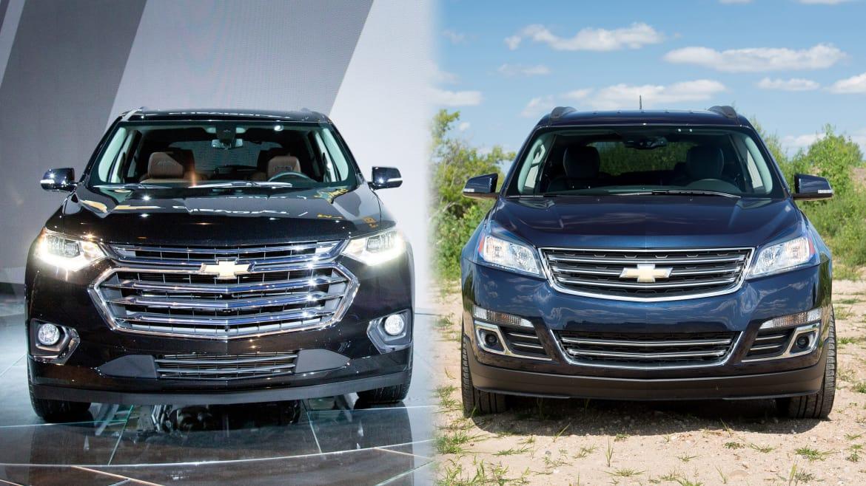 2017 Chevrolet Traverse Versus 2018 Chevrolet Traverse