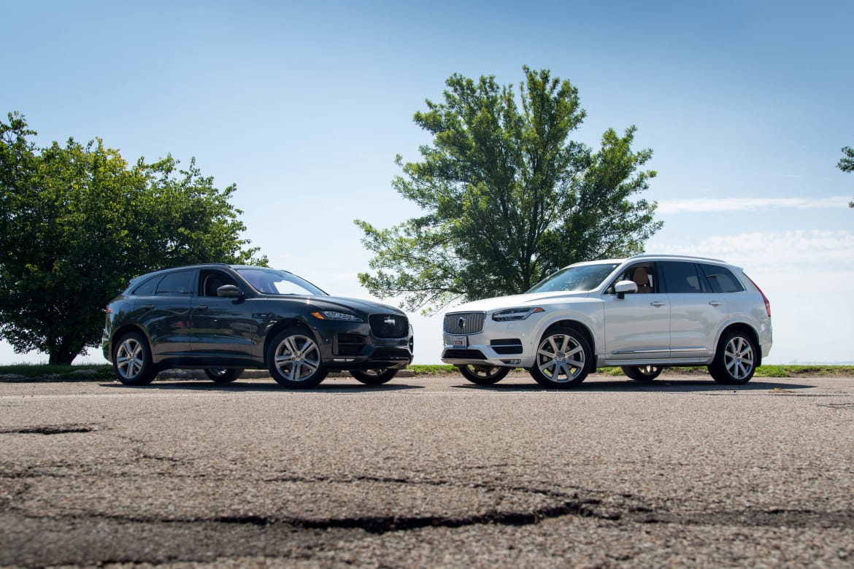 Luxury Suv Face Off Jaguar F Pace Versus Volvo Xc90 News Cars Com