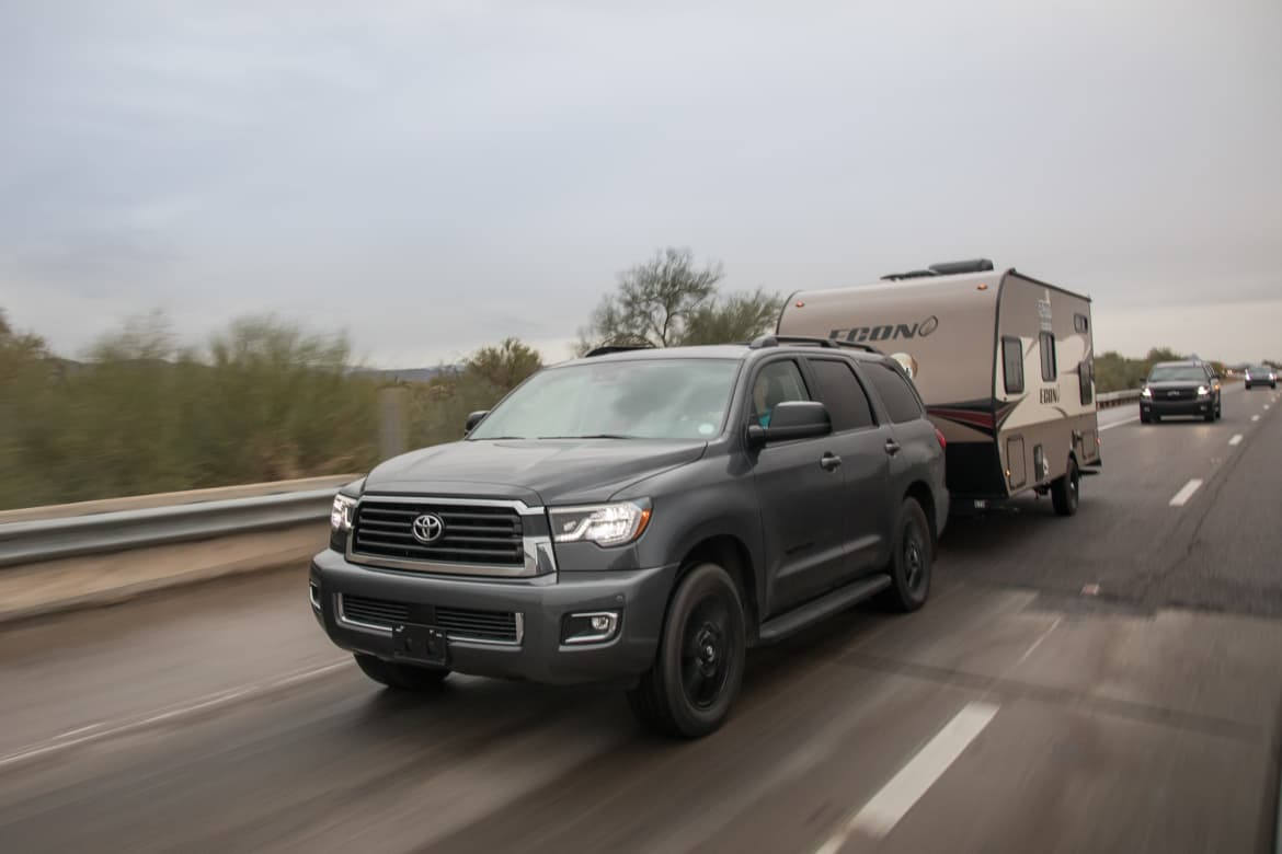 Nissan Armada Towing Capacity >> Which 2018 Full Size Suv Is The Best Tow Rig News Cars Com