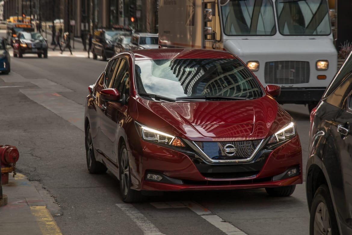 2018 Nissan Leaf e-Pedal Tested: Getting to Work Without