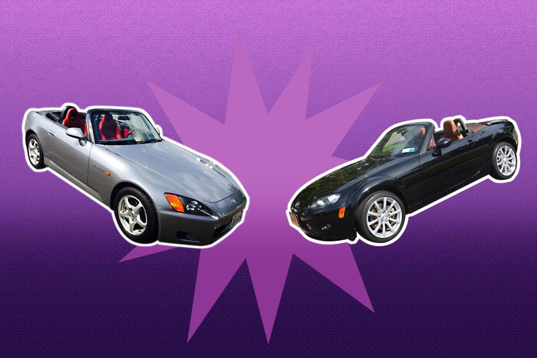 2000 Honda S2000 vs  2006 Mazda MX-5 Miata: Which Would You Buy