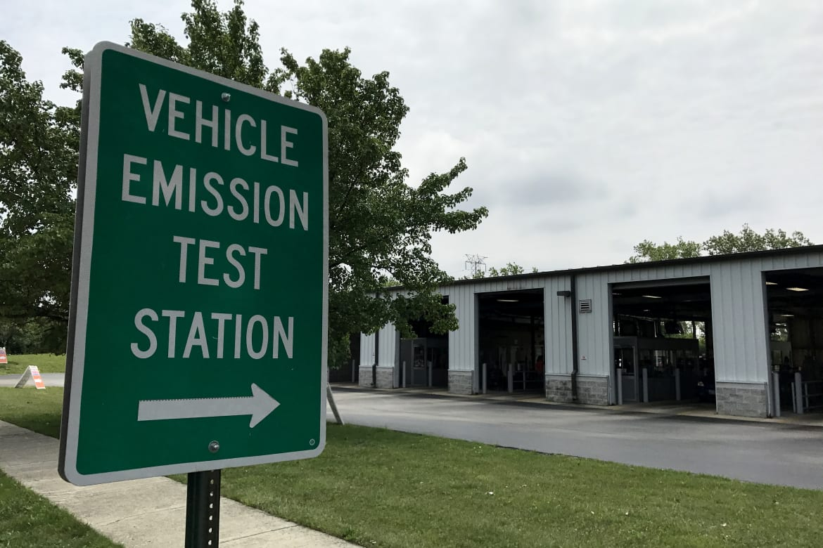 Vehicle Emission Test Station
