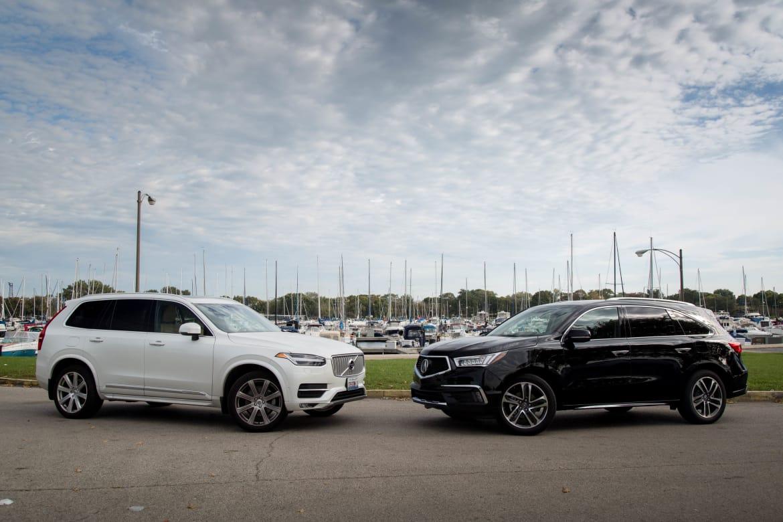 Luxury Suv Road Test 2016 Volvo Xc90 Versus 2017 Acura Mdx News