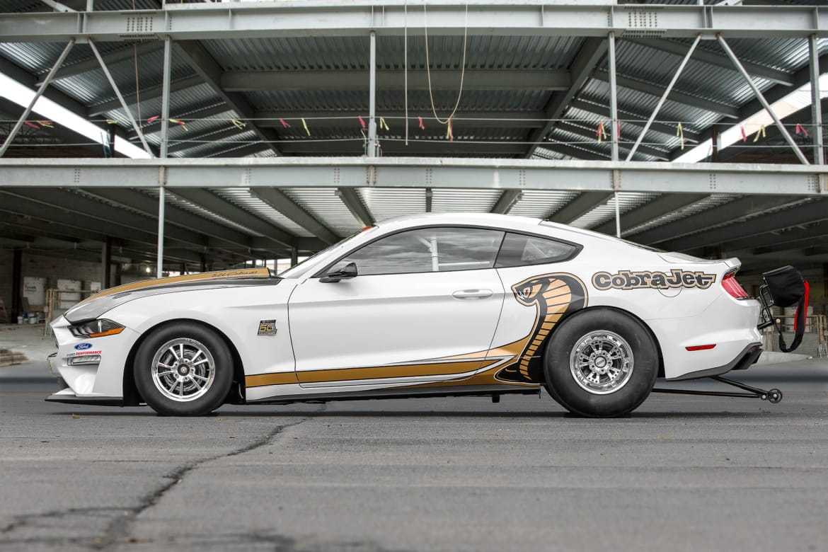 Mustang cobra jet demon who ford unveils latest mustang cobra jet factory dragster