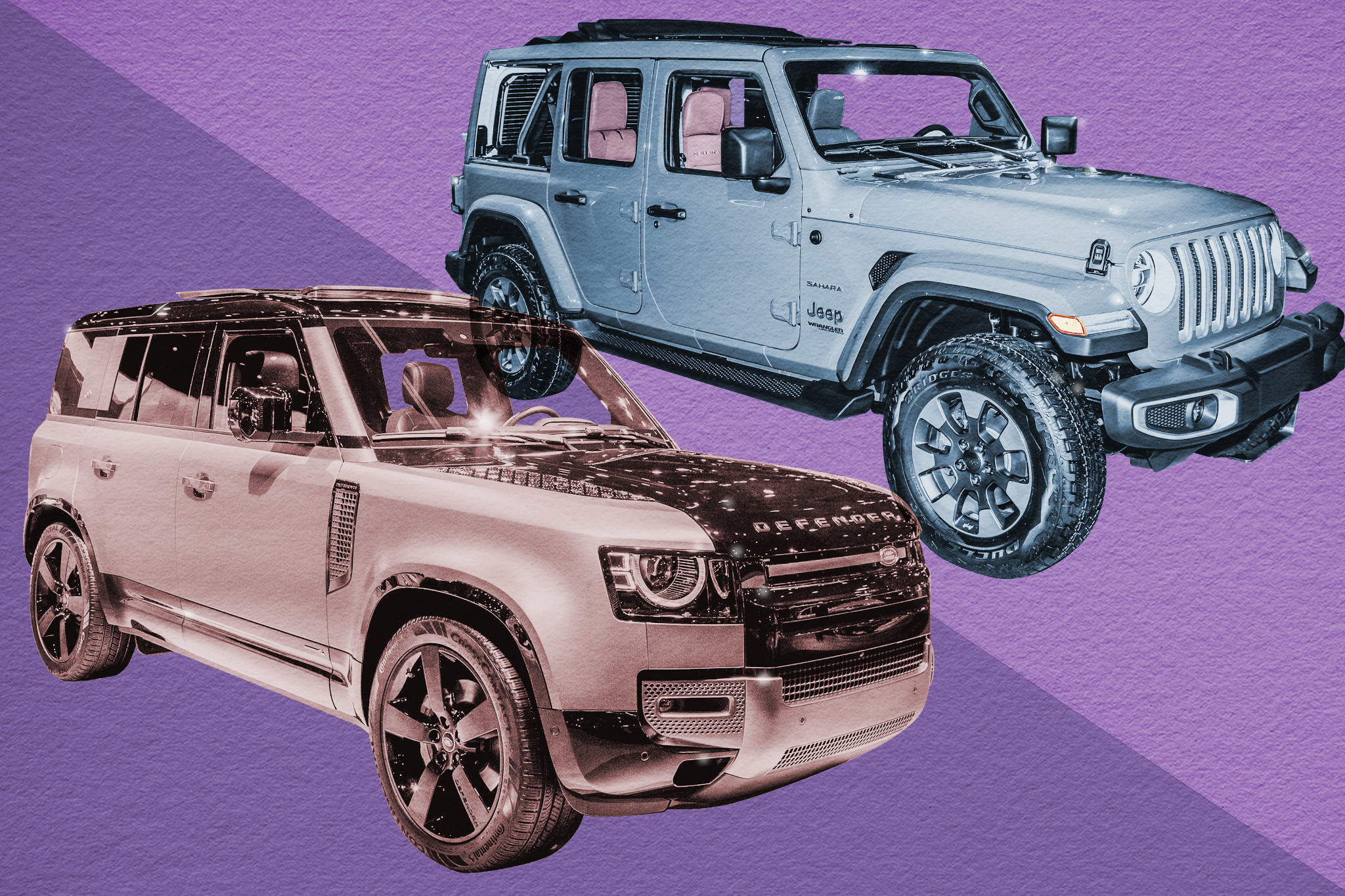 Auto Show Face-Off: 2020 Land Rover Defender Vs. 2020 Jeep Wrangler Rubicon