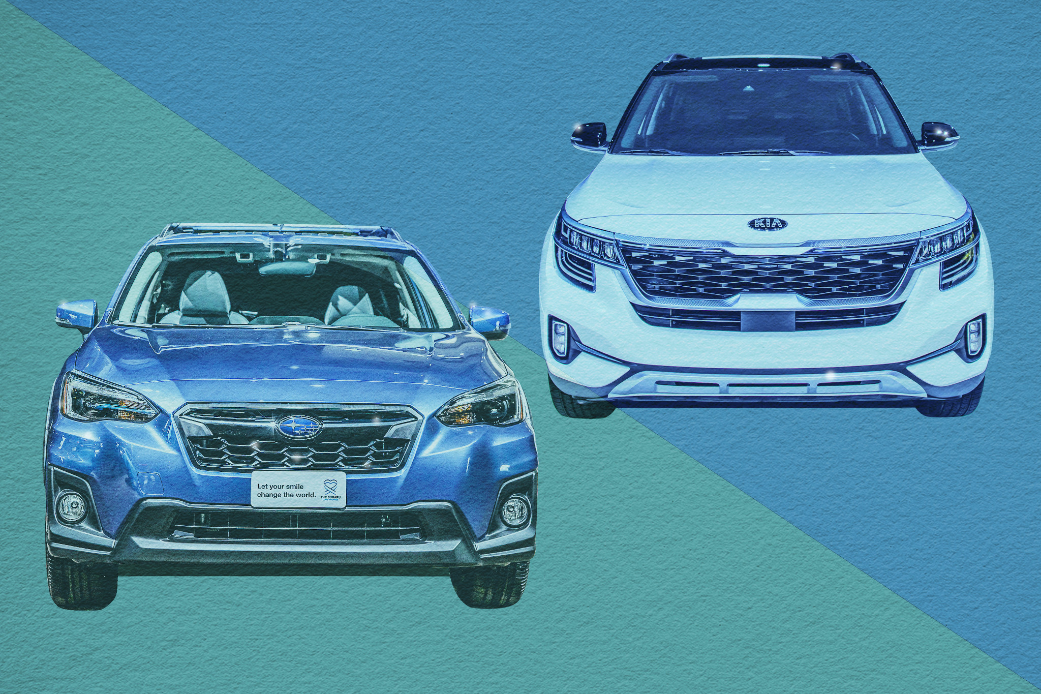 Auto Show Face-Off: 2021 Kia Seltos Vs. 2020 Subaru Crosstrek