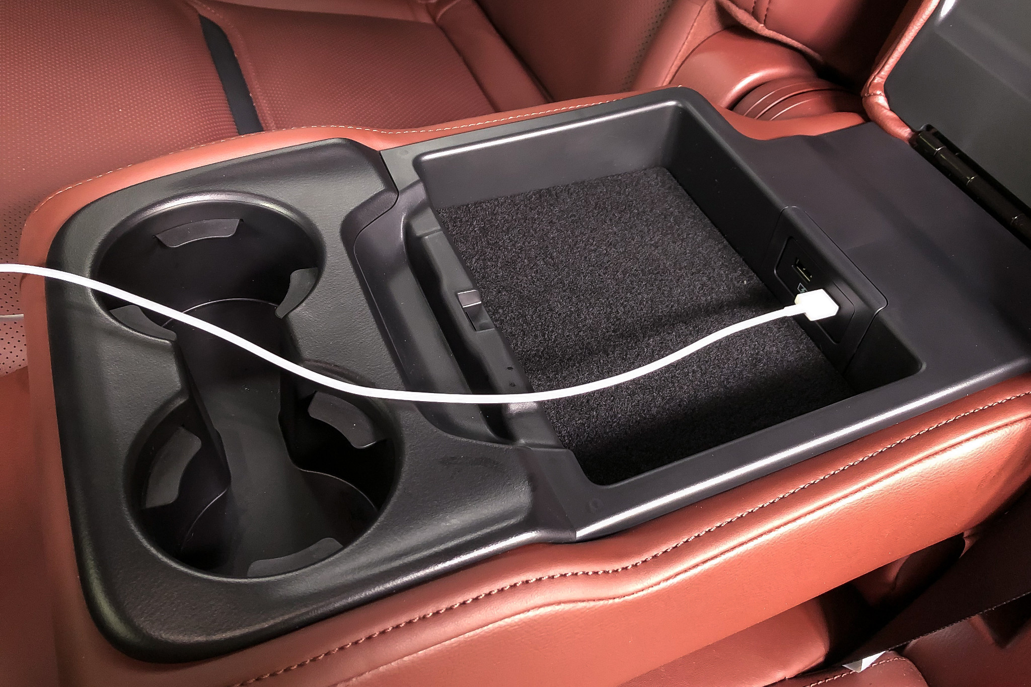 Smart Solution: 2019 Mazda CX-9's Armrest USB Ports