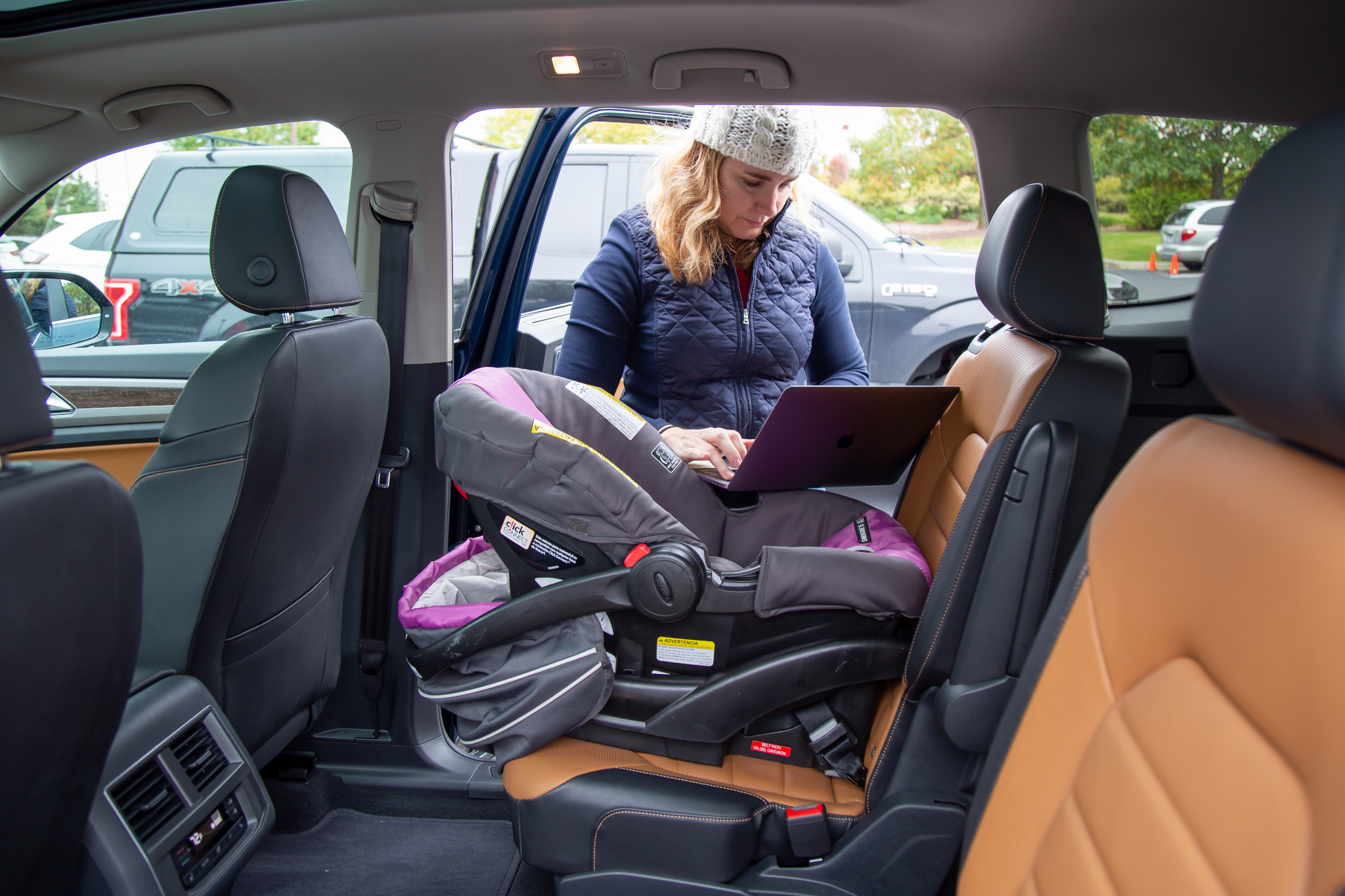 How Do Car Seats Fit in a 2020 Volkswagen Atlas?
